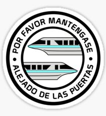 MonorailPorFavorTeal Sticker