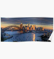 Kissed - Sydney Harbour, Sydney Australia (30 Exposure HDR Panorama)- The HDR Experience Poster