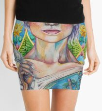 Asparagus Queen (Model: Emery Allen) Mini Skirt