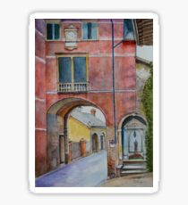 Asolo Gate and Shrine, Veneto, Italy Sticker