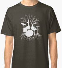 """Live the Beat to the Tempo of Creation"" ~ drum tree art , version1 Classic T-Shirt"