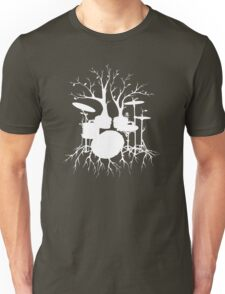 """""""Live the Beat to the Tempo of Creation"""" ~ drum tree art , version1 Unisex T-Shirt"""