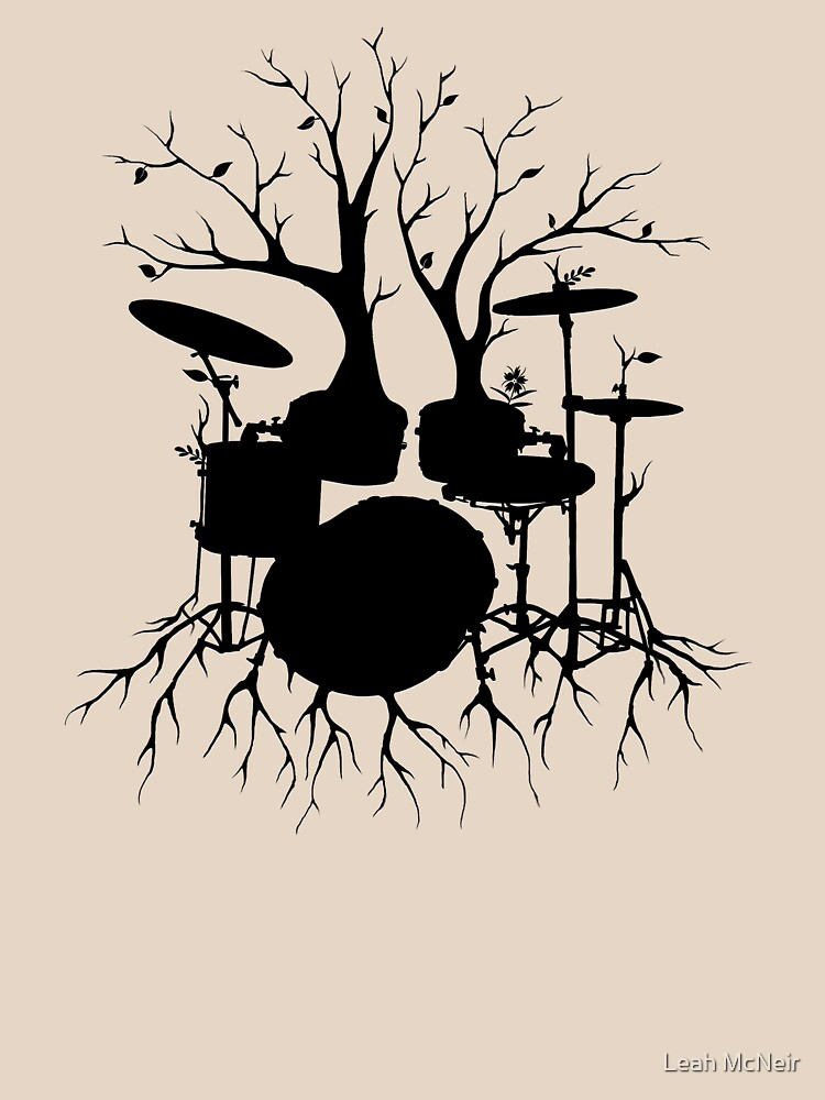 """""""Live the Beat to the Tempo of Creation"""" ~ drum tree art, version2 by LeahMcNeir"""
