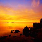Sunset and Fire by Chad Dutson