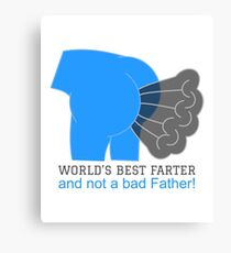 World's Best Father! Canvas Print