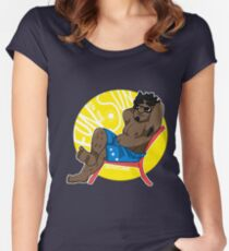 Relax - Small Dude Collection Women's Fitted Scoop T-Shirt