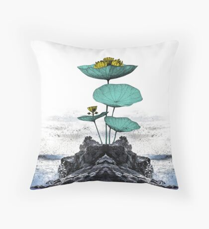 Yoga Floral Art Throw Pillow