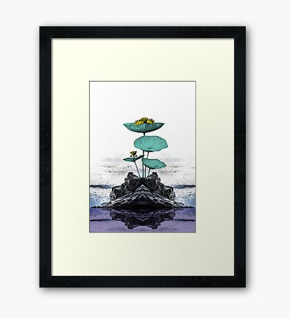 Yoga Floral Art Framed Print