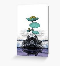 Yoga Floral Art Greeting Card