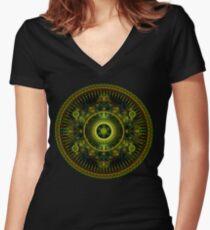 Metatron's Magick Wheel ~ Sacred Geometry Women's Fitted V-Neck T-Shirt