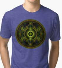 Metatron's Magick Wheel ~ Sacred Geometry Tri-blend T-Shirt