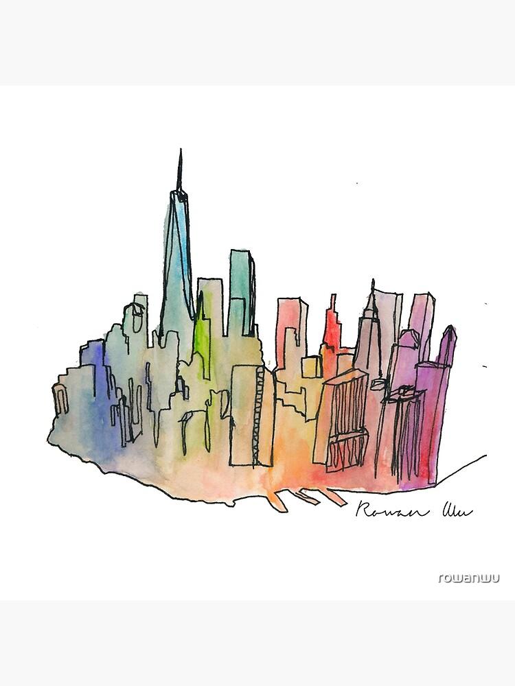Regenbogen-Skyline von rowanwu