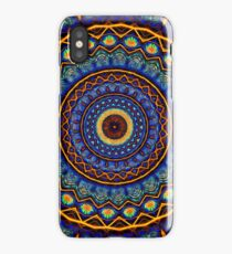 Kaleidoscope 4 abstract stained glass mandala pattern iPhone Case/Skin