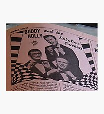 Buddy Holly and The Fabulous Crickets, close up Photographic Print
