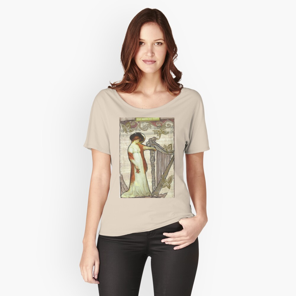 What Makes You Happy:-) Women's Relaxed Fit T-Shirt Front
