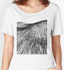 Abstract Field (black) Women's Relaxed Fit T-Shirt