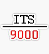 Its Over 9000 sticker Sticker