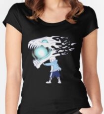 Undertale - Sans and Gasterblaster Women's Fitted Scoop T-Shirt