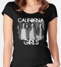 Susan Atkins/Patricia Krenwinkel/Leslie Van Houten - California Girls Women's Fitted Scoop T-Shirt