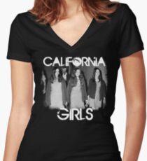 Susan Atkins/Patricia Krenwinkel/Leslie Van Houten - California Girls Women's Fitted V-Neck T-Shirt