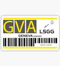 Destination Geneva Airport Sticker