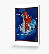 Rose, blue, Universe, Spirituality, blue star shaker Greeting Card
