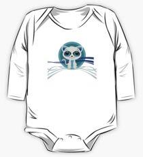 Kitten - Blue One Piece - Long Sleeve