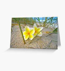 Frangipani Beach. Greeting Card