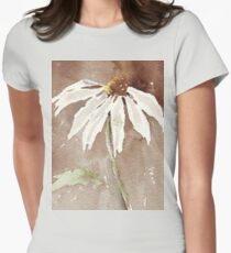 Sepia Daisy Womens Fitted T-Shirt
