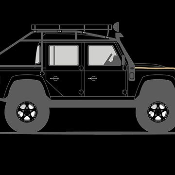 A Graphical Interpretation of the Defender 110 Double Cab Pick Up Specture by 3pedaldriving