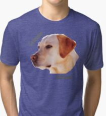 Dog breeds - Labrador Retriever Tri-blend T-Shirt
