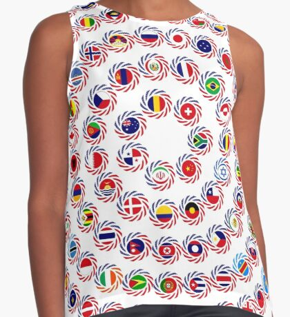 We Are America Multinational Patriot Flag Collective 1.0 Contrast Tank