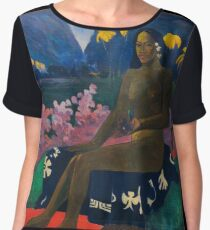 Paul Gauguin - The Seed of the Areoi  Women's Chiffon Top