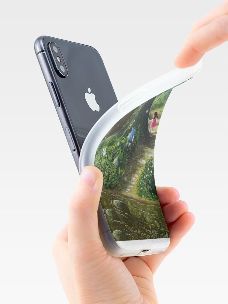 Vista alternativa de Funda y vinilo para iPhone Totoro and Mei
