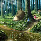 «Totoro and Mei» de Roberto Nieto