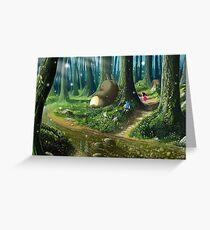 Totoro and Mei Greeting Card