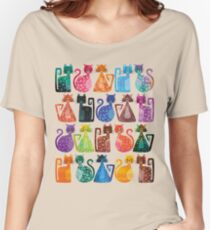 Geometricats - Bright Colours Women's Relaxed Fit T-Shirt