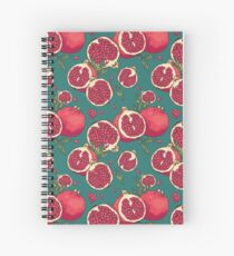 Juicy pomegranate fruits Spiral Notebook