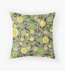 Lemon and Lime Throw Pillow