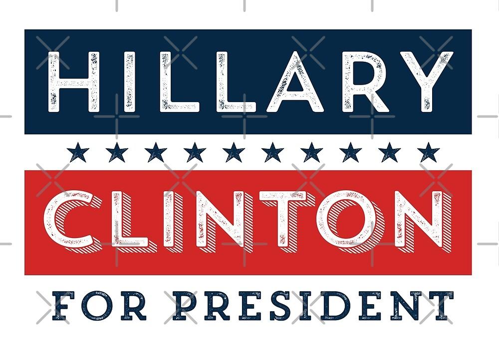 Retro Hillary Clinton for President by depresident