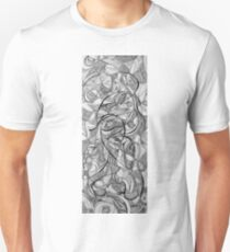 In the Twirling of Imagination, 2015, 20-50cm, ink on paper T-Shirt