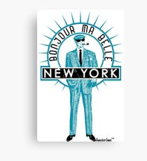 Bonjour ma belle New York by Francisco Evans ™ Canvas Print