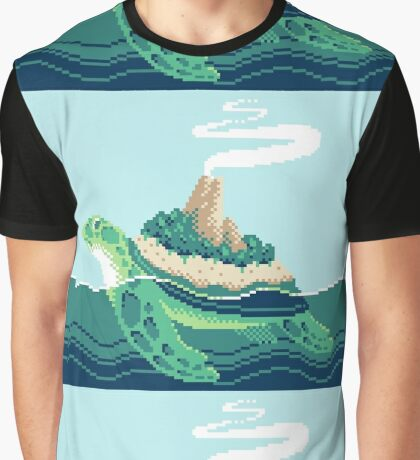 Gentle sea monster (Pixel) Graphic T-Shirt