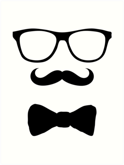 Mustache glasses bow tie art prints by madant redbubble mustache glasses bow tie by madant voltagebd Choice Image