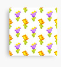 Pixel Flowers Canvas Print