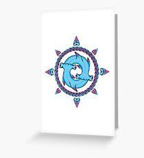 Shark Compass II Greeting Card