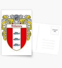 Delaney Coat of Arms/Family Crest Postcards