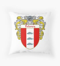Delaney Coat of Arms/Family Crest Throw Pillow