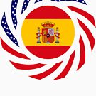 Spanish American Multinational Patriot Flag Series by Carbon-Fibre Media