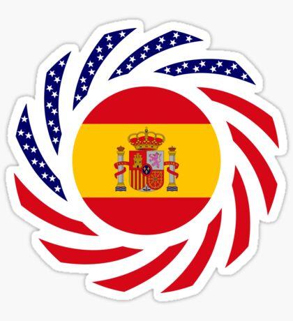 Spanish American Multinational Patriot Flag Series Sticker